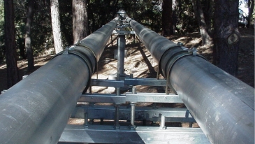 Two light pipelines side by side.