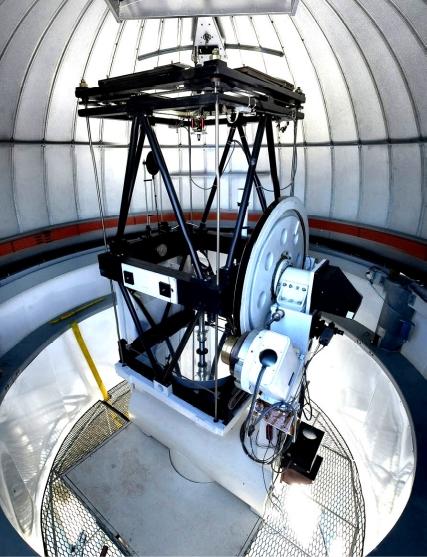 CHARA telescope inside the dome (Steve Golden).