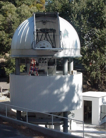 CHARA telescope with dome open.