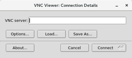 tigervnc viewer connection window